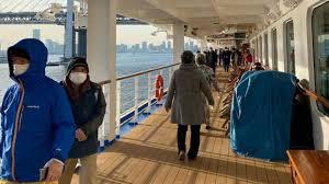 Crucero japones en cuarentena: Detectan 40 casos más de coronavirus