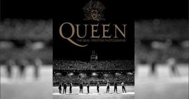 El Gigante de Arroyito, tapa de un libro con fotos de Queen
