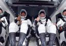 Volvieron los cuatro astronautas en la cápsula SpaceX Crew Dragon